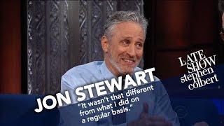 Jon Stewart Ribs Stephen For His Recent Language thumbnail