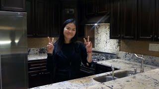 "DIY Ideas - How to Easily DIY Kitchen Backsplash - ""Peel and Stick"" Mosaic Tile"