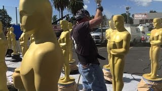 Red carpet is rolled out ahead of the 2017 Oscars