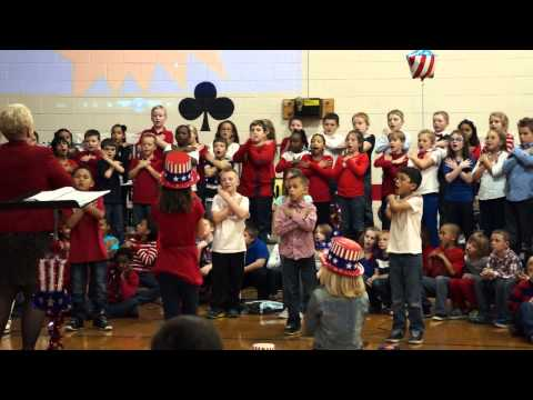 Veteran's Day Salem Church Elementary School 2013