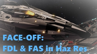 Elite Dangerous: FDL and FAS Face-Off in Haz Res Bounty Hunting