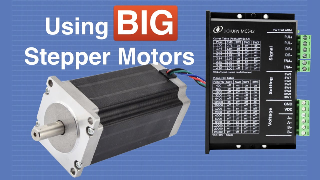 Big Stepper Motors With Arduino Youtube