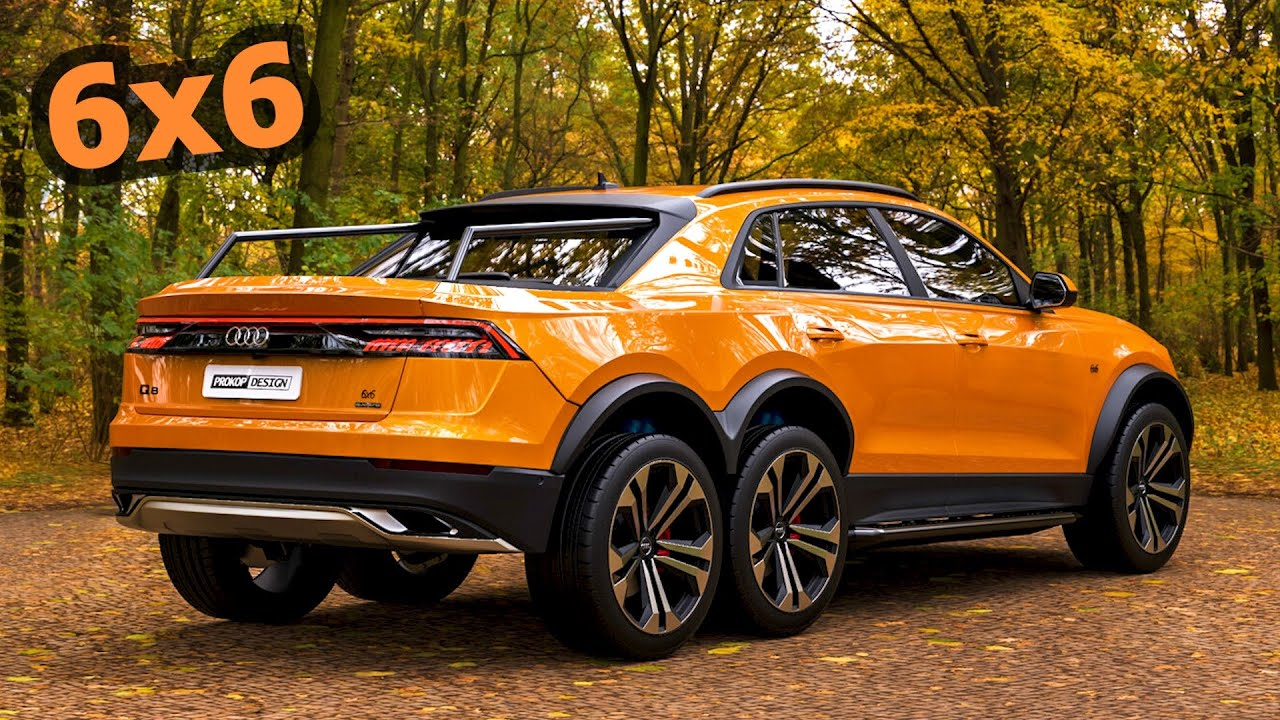 The first in the world Audi Q8 6x6 Quattro. Looks amazing... don't you think? 😮 🤯