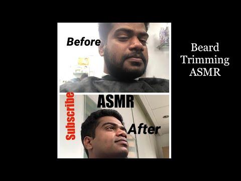 $1 Silent Beard Trimming ASMR|4K