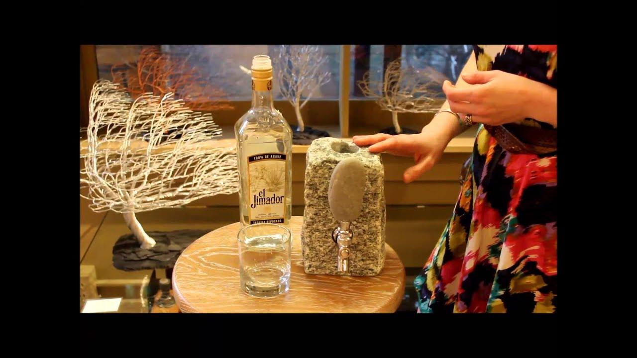 Stone Liquor Dispenser - YouTube