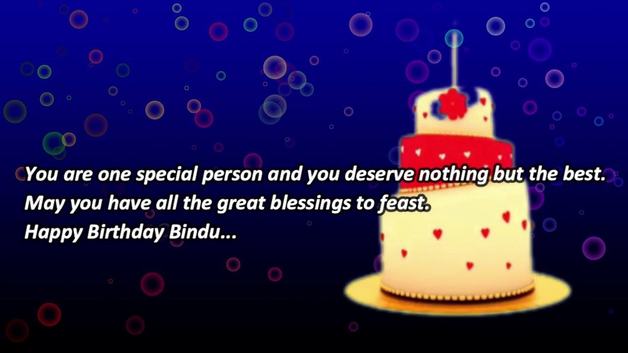 Happy Birthday Wishes Bindu - Birthday Messages Status