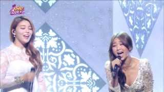 [HOT] Ailee & Hyorin(SISTAR) - Let it go, 에일리 & 효린 - 렛잇고, Celebration 400th Show Music core 20140308