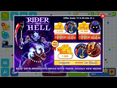 New Skins - Agario Mobile | Rider From Hell | New Skins Hacked | December 2017