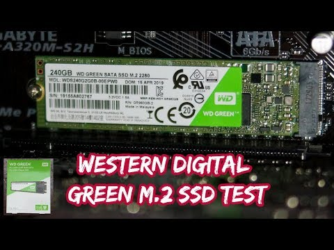 Western Digital Green M.2 SATA SSD (WDS240G2G0B): Test