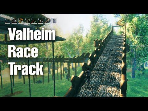 Valheim Race Track creative build