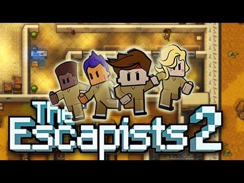 Wild West JAIL BREAK!  (The Escapists 2 Prison Break - Rattlesnake Springs Gameplay Part 1)