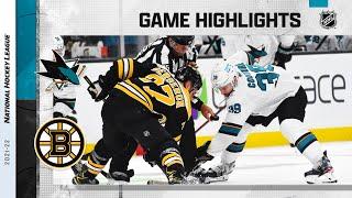 Sharks @ Bruins 10/24/21 | NHL Highlights