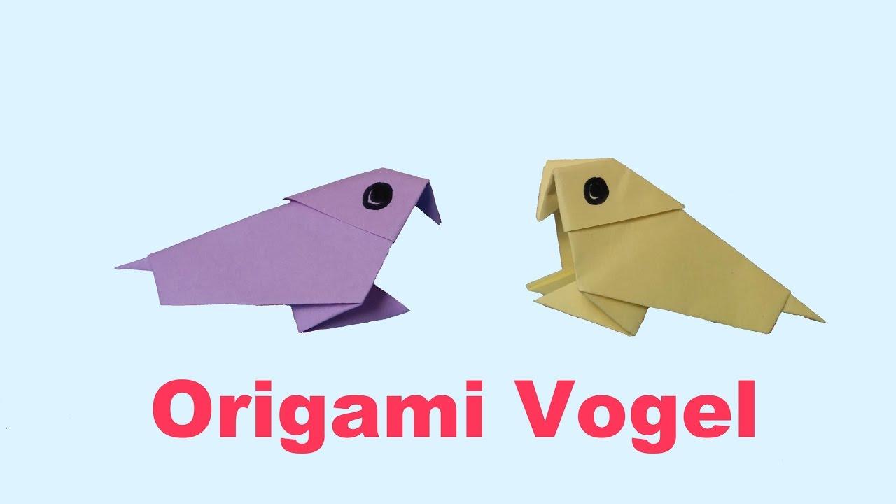 Populair ORIGAMI VOGEL - Hoe vouw ik een simpele vogel - YouTube @VG15