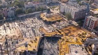 Budowa Centrum Handlowo Rozrywkowego Nowa Stacja w Pruszkowie. Październik 2017