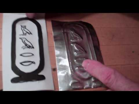 How to make an anciant egyptian cartouche