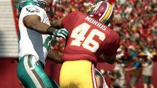 Please Fix This Stiff Arm Glitch @EAMaddenNFL - Alfred Morris God Mod (Eagles vs Redskins)