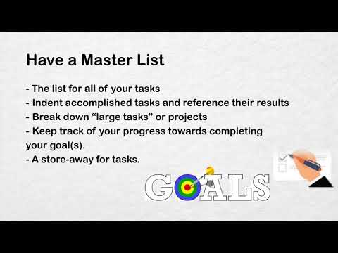 To do lists -  Everything from A z