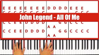 ♫ ORIGINAL - How To Play All Of Me John Legend Piano Tutorial Lesson! - PGN Piano