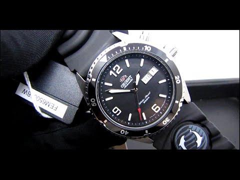 cd376b74696 Relógio Orient Automático Mako Diver 200M FEM65004BW Preto – Mergulho  (Detalhes)