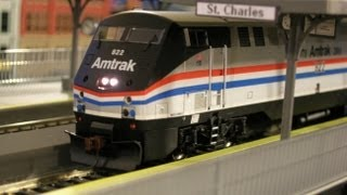 HO Scale Elevated Amtrak Station HD