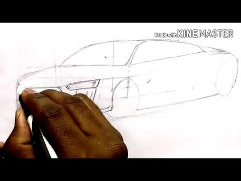 How to sketch Audi R8