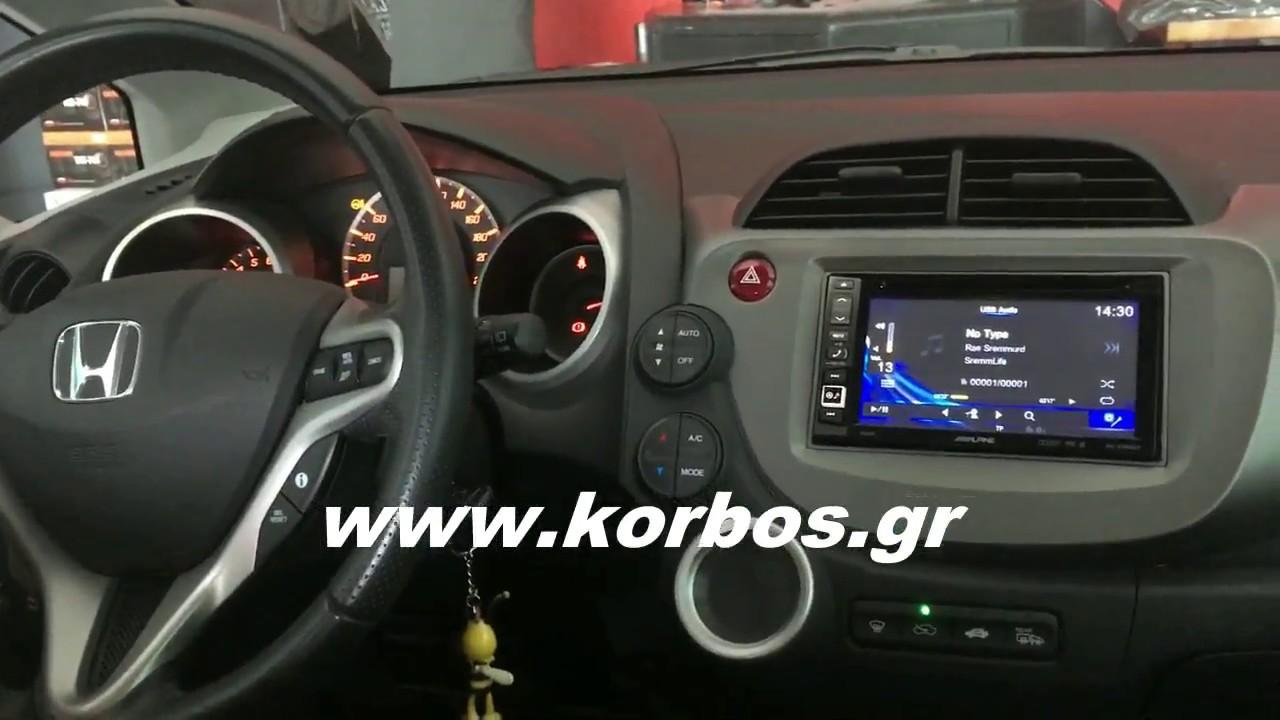 Honda Jazz with 2Din Multimedia Alpine ine-w990bt www.korbos.gr