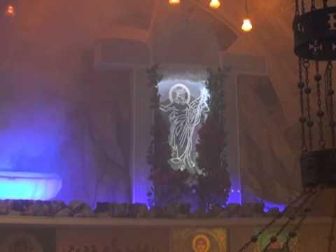 تمثيلية القيامة بكنيسة الشهيد العظيم جيؤرجيوس بأبى طاقية بشبرا لسنة 2015