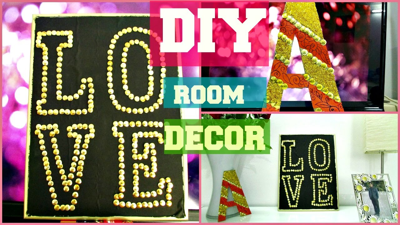diy room decor 2 easy and cheap diy decoration ideas pinterest inspired youtube - Pinterest Room Decor