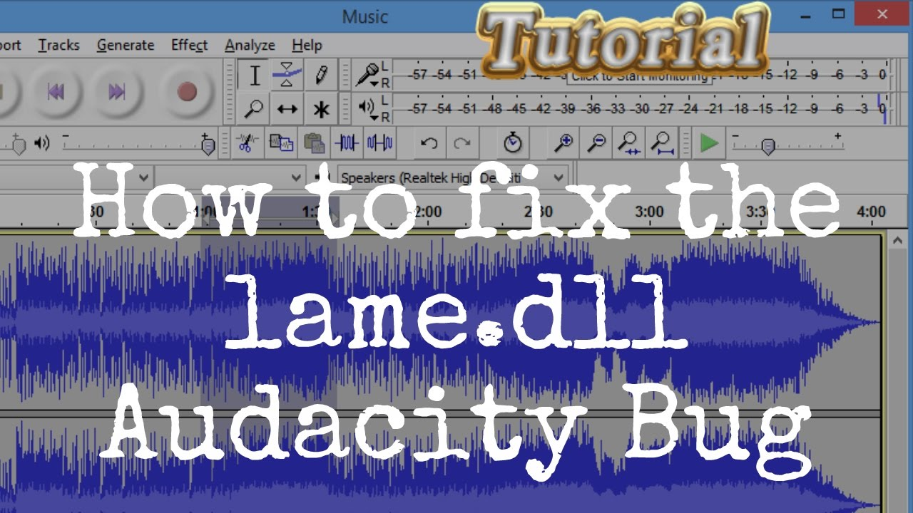 How to fix the lame dll Audacity Bug   video tutorial by TechyV