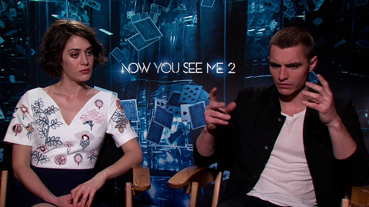 Now You See Me 2 Dave Franco Lizzy Caplan Official Movie Interview