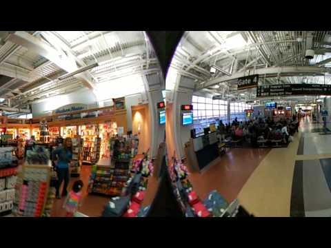 Atlantic City Airport ACY Terminal WalkThrough - 360 - Part 2