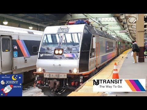 New Jersey Transit Train Ride From NY Penn Station To Newark Penn Station