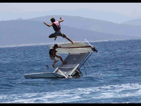Extreme Catamaran Sailing at Turkey coasts