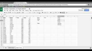 Google Spreadsheet Dynamic Dependent Dropdown List No Scripts