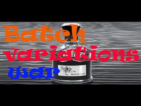 creed aventus batch variations war (collaborations video)