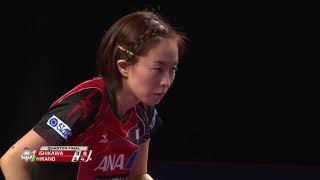 カタールOP 女子シングルス 準々決勝 石川佳純vs平野美宇 第6ゲーム