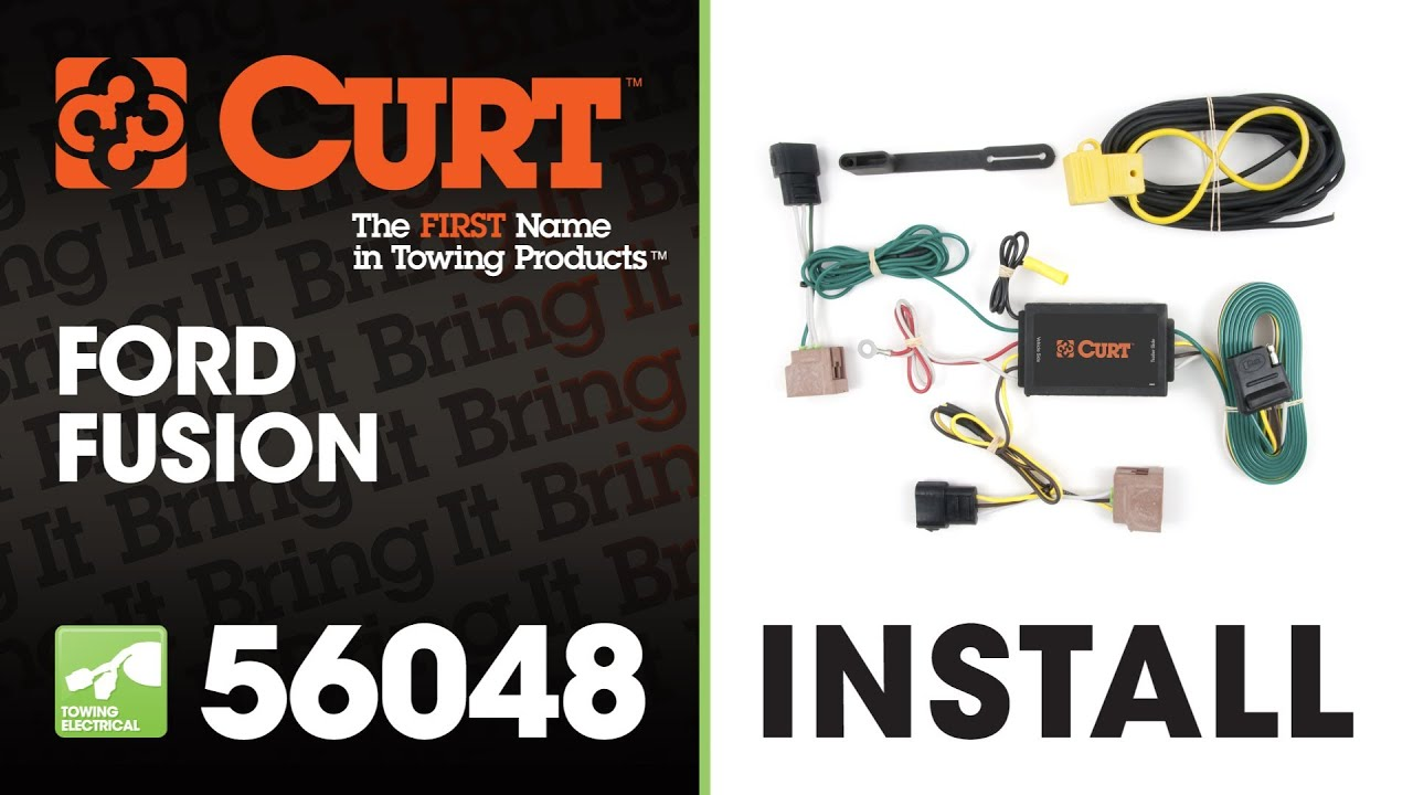 small resolution of trailer wiring install curt 56048 t connector on 2011 ford fusion