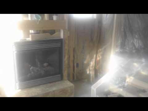 Building a fireplace hearth