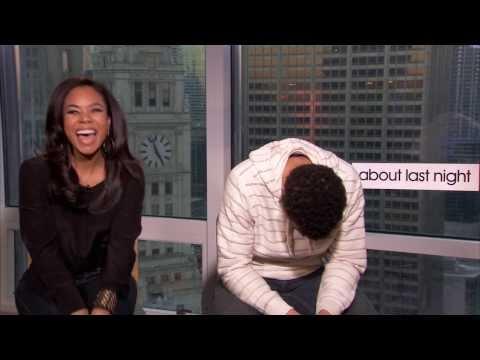 Michael Ealy raps and Regina Hall tells a joke
