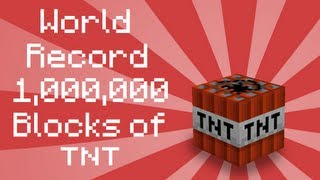 Minecraft: 1000000 TNT Explosion World Record No Lag