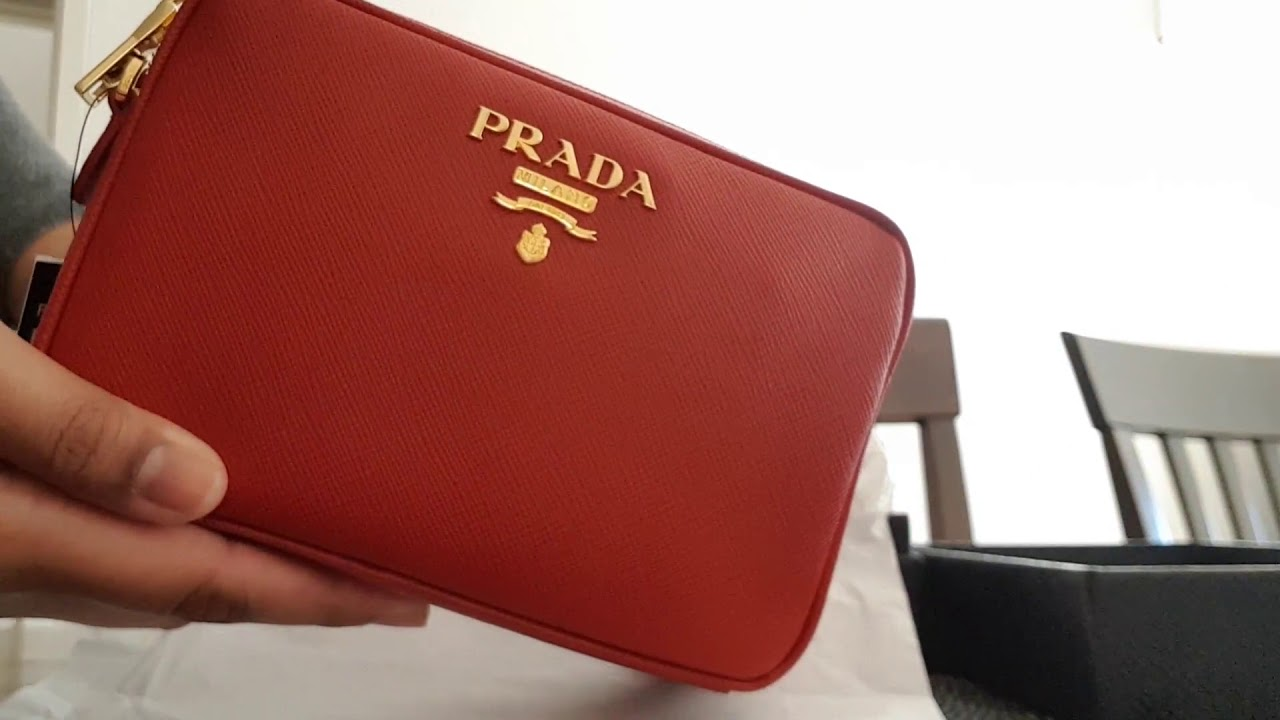 c8152ac5dd Prada Saffiano Camera Bag - YouTube