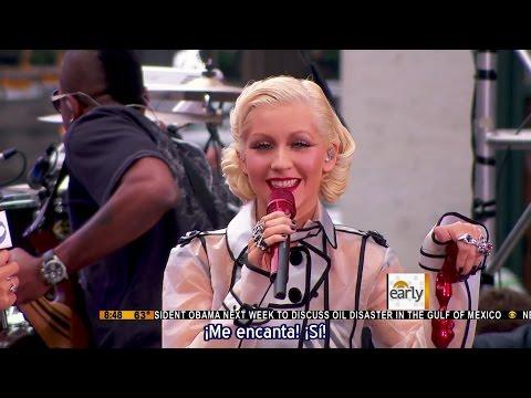 """Christina Aguilera - Entrevista & show completo """"Bionic"""" en The Early Show 2010 (Subtítulos español)"""