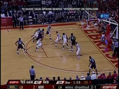 Feb. 24 - Texas A&M v. Nebraska - Last 6 Minutes