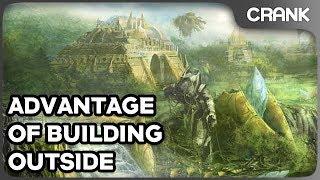 Advantage of Building Outside - Crank's StarCraft 2 Variety!