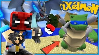 Minecraft Pixelmon #4 - NINJA TURTLE BLASTOISE + MEGA-CHARIZARD X (Minecraft Pokemon)