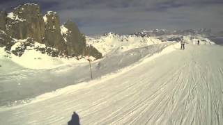 Marmolada 1500 Höhenmeter 8 km Piste in 5 Minuten