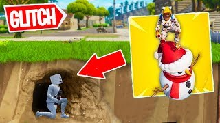 THIS GUY FINDS A SECRET GLITCH TO GO UNDER THE MAP! Fortnite