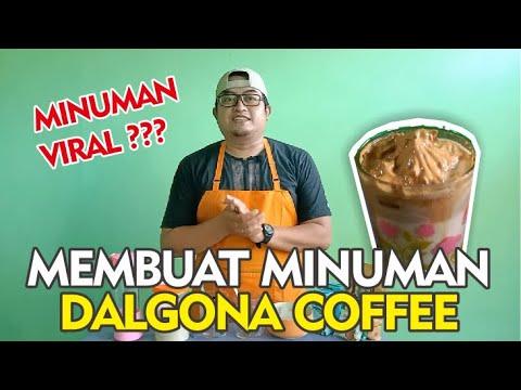 CARA MEMBUAT DALGONA COFFEE TANPA MIXER !!! MINUMAN VIRAL ...