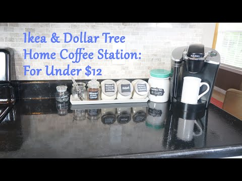 Ikea & Dollar Tree - Home Coffee Station: For Under $12