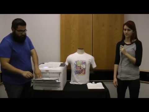 2f0588ef OKI C831-TS CMYK LED Printer--T-Shirt Transfer in 60 Seconds - YouTube